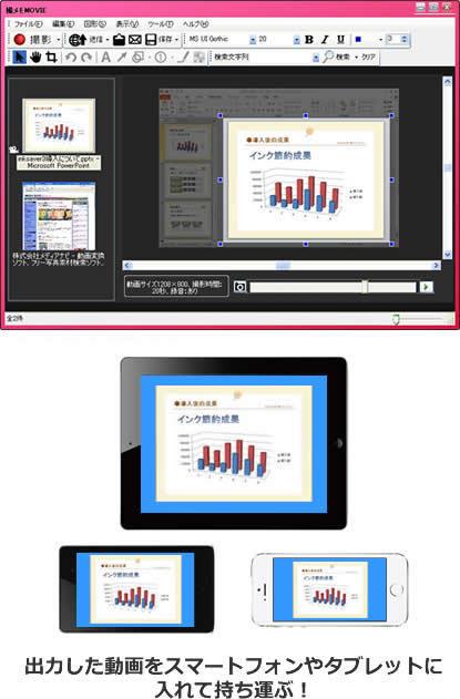 対応ソフトの入っていないPCや動画再生専用デバイスを使ってプレゼン
