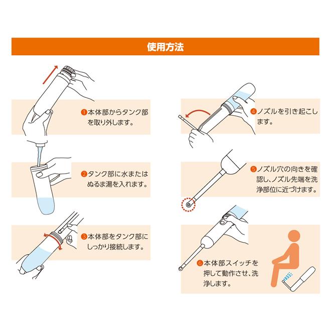 トイレシャワー使用方法