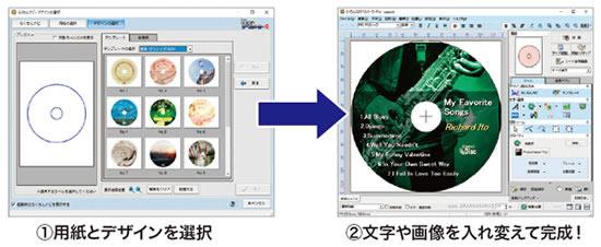 CDラベルのほかケースもデザインできます!