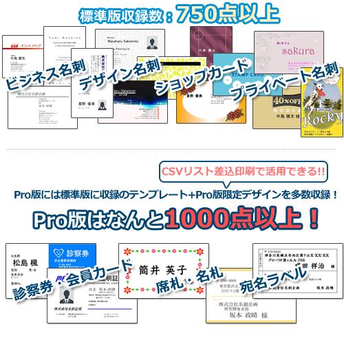標準版収録数、750点以上、Pro版はなんと1000点以上