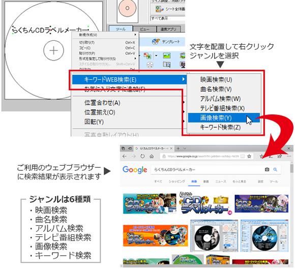 web検索機能